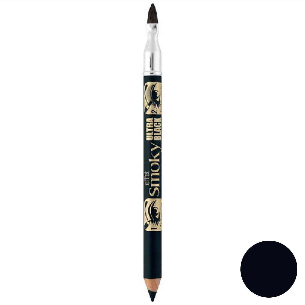 مداد چشم  برس دار بورژوآ مدل Effet Smoky Ultra Black شماره 76