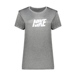 تی شرت آستین کوتاه ورزشی دخترانهمدل Q301 رنگ طوسی