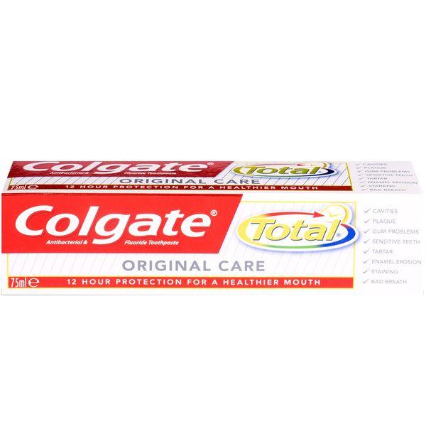 خمیر دندان کلگیت سری Total مدل Original Care حجم 75 میلی لیتر