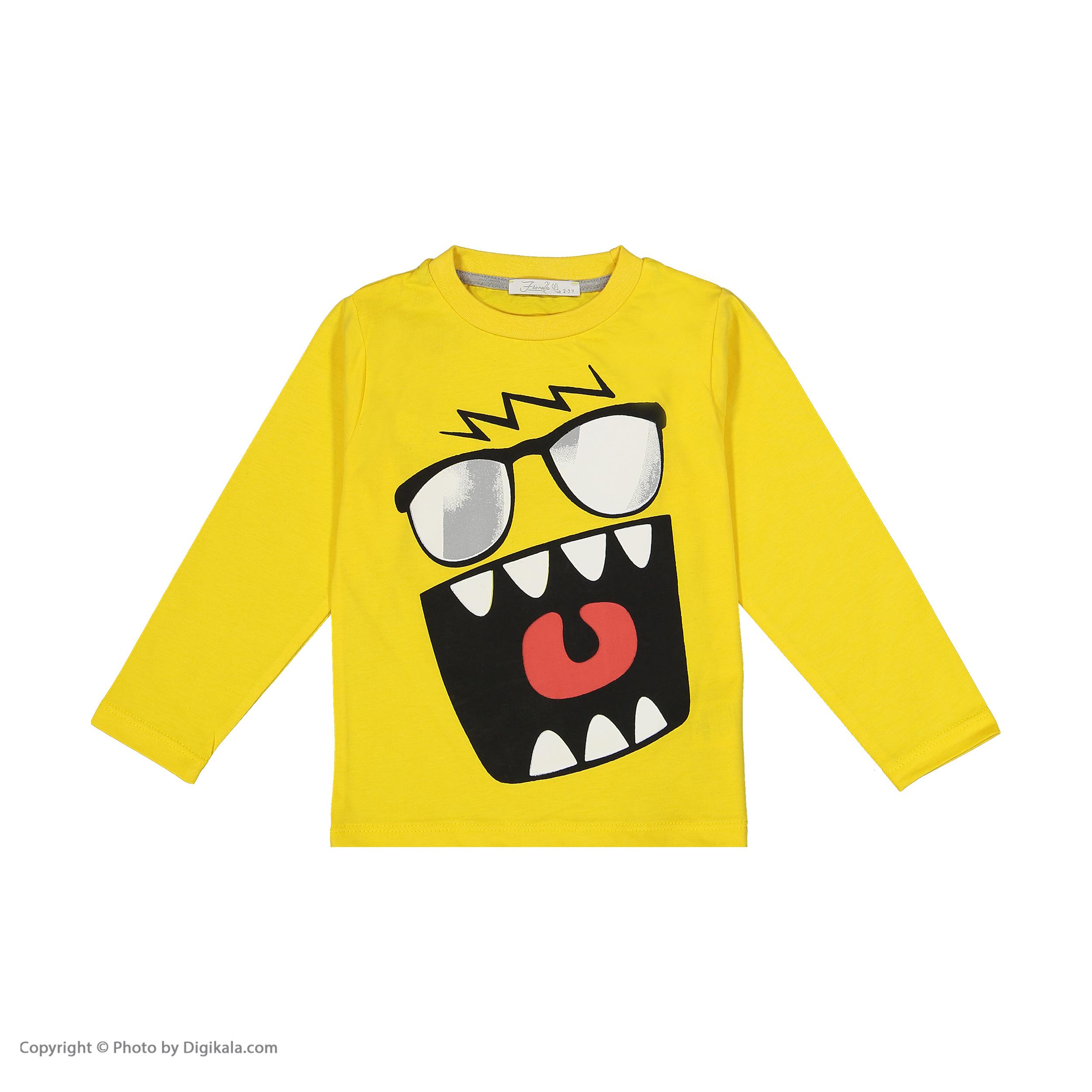 ست تی شرت و شلوار  پسرانه فیورلا کد 30548