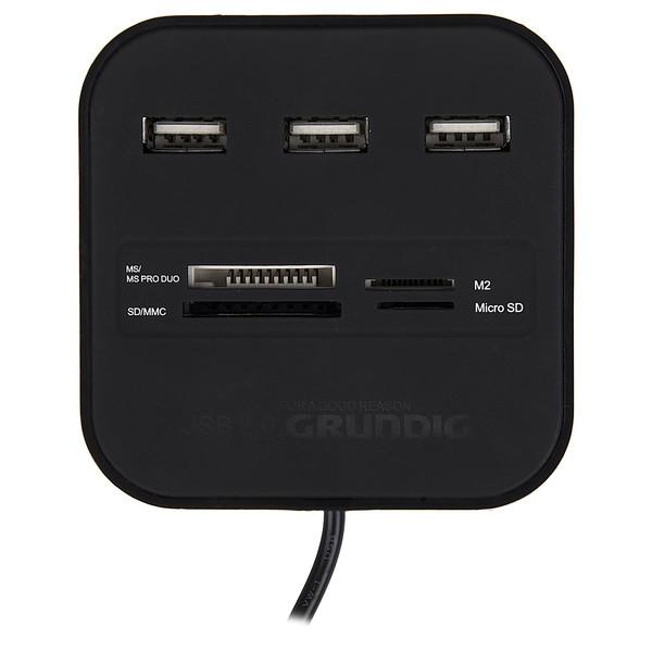 هاب USB و کارت خوان حافظه گروندیگ مدل 51594