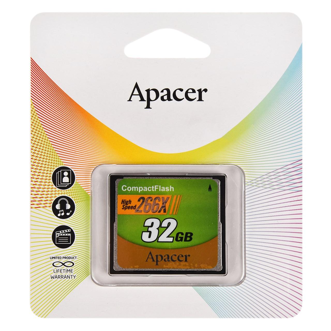 کارت حافظه CF اپیسر مدل High Speed سرعت 266X ظرفیت 32 گیگابایت