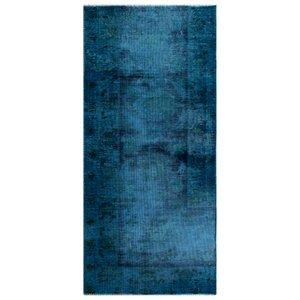 فرش دستبافت رنگ شده کناره طول یک متری نیروانا کد 10439