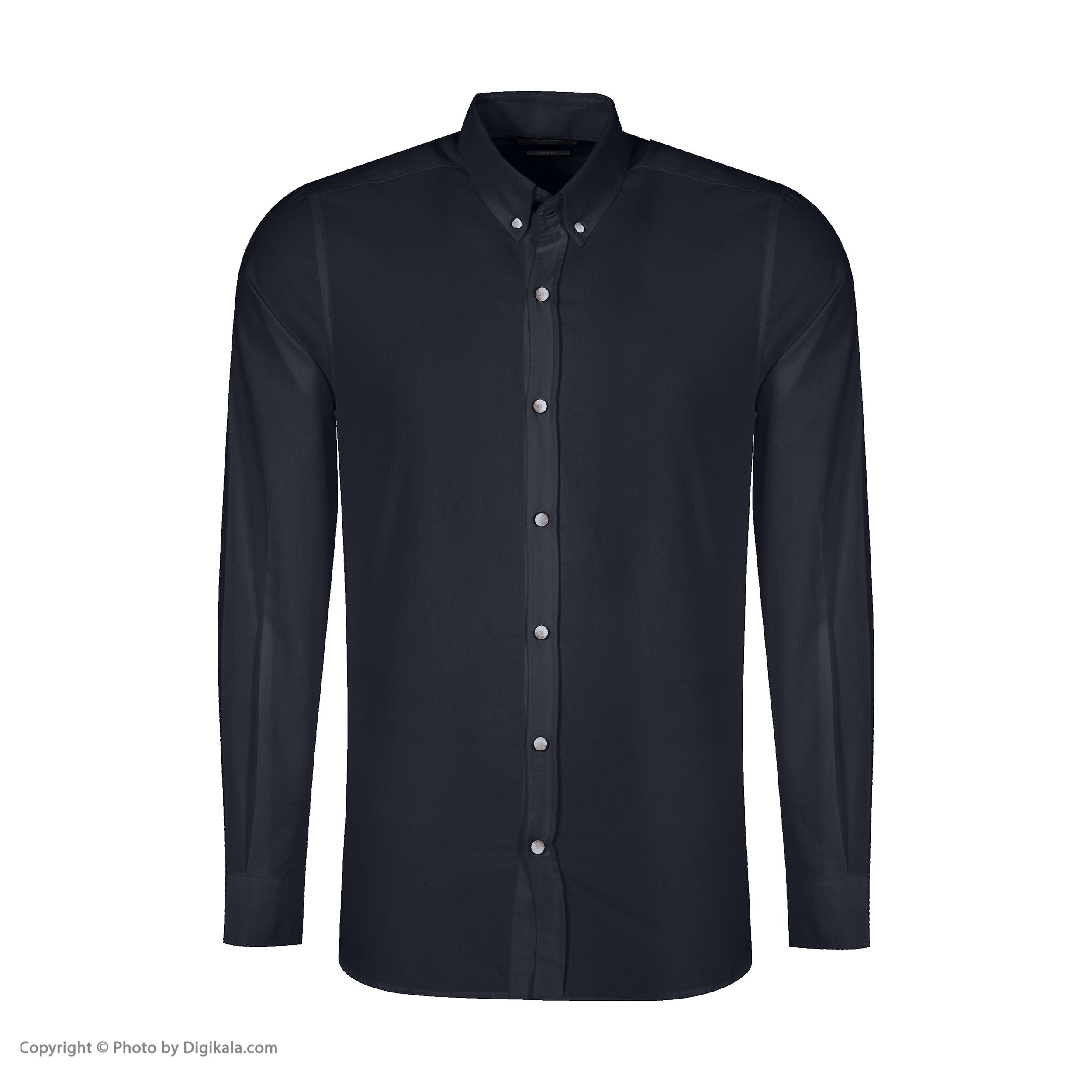 پیراهن آستین بلند مردانه ال سی وایکیکی مدل 220SA013Z8-HUC-BLACK2222222