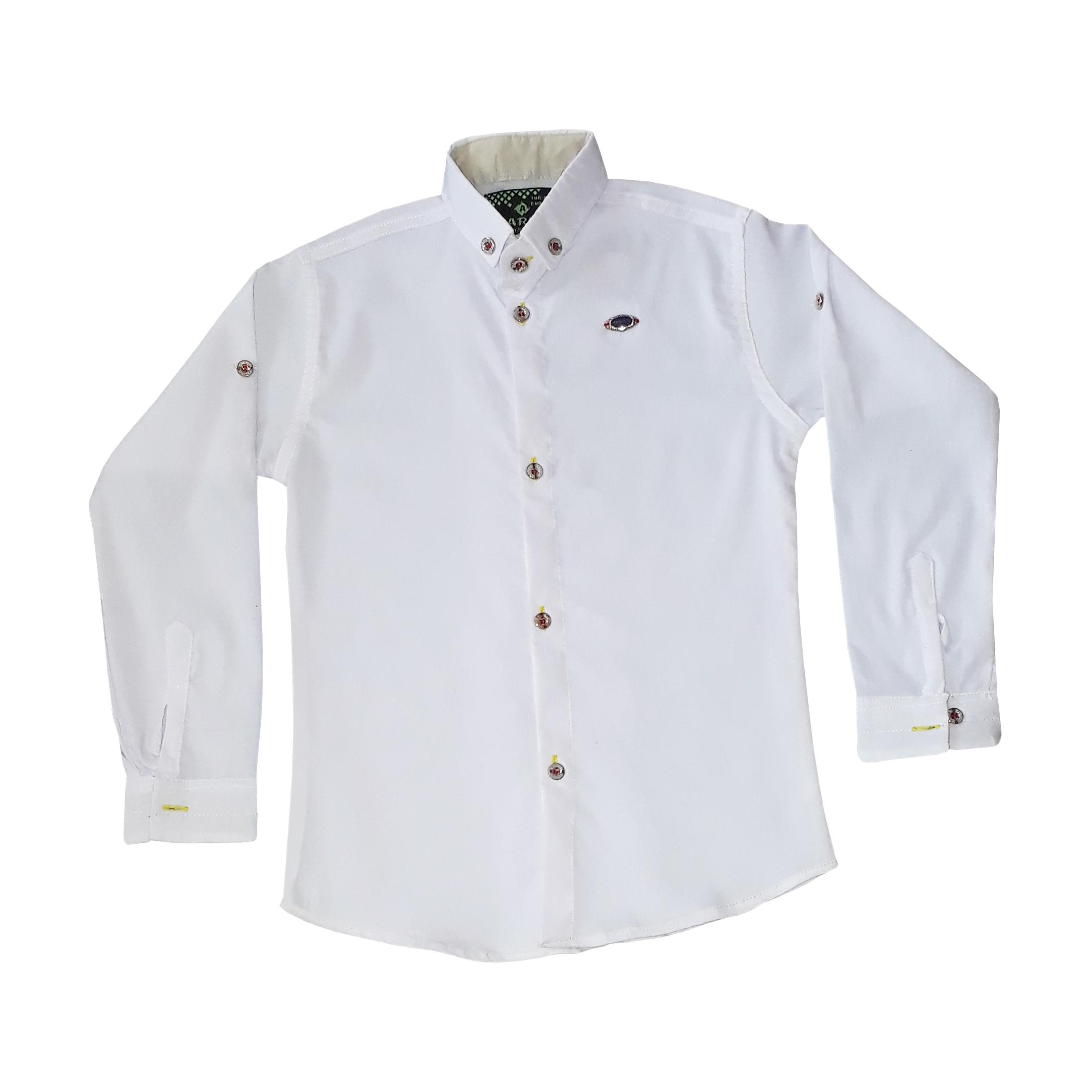 پیراهن پسرانه کد P-W1 رنگ سفید