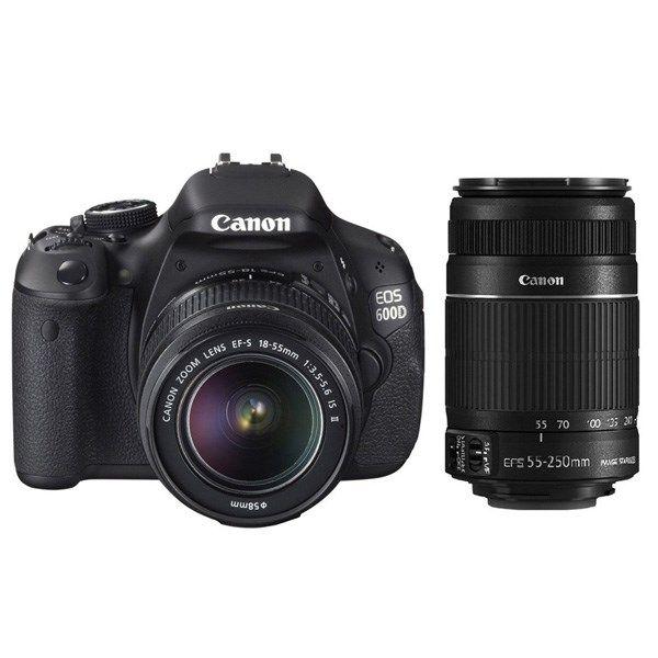 دوربین دیجیتال کانن ای او اس 600 دی (کیت 2 لنز 18-55 و 55-250)