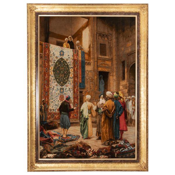 تابلو فرش دستباف سی پرشیا مدل بازار فرش قاهره کد 902036