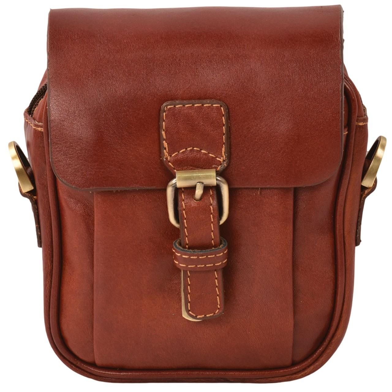 کیف دوشی چرم طبیعی کهن چرم مدل db71-12