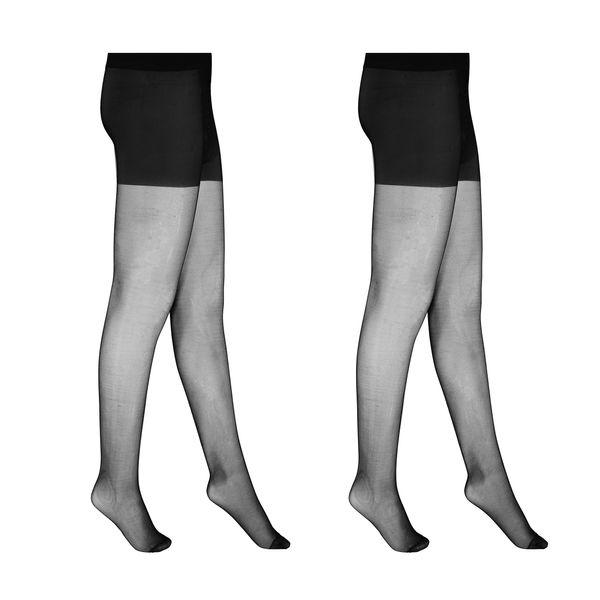 جوراب شلواری زنانه مدل FEINSTRUMPHOSE Basic - 20 DEN - SM_46 بسته 2 عددی