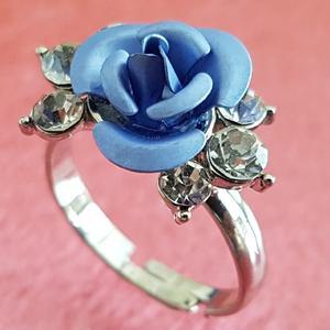 انگشتر دخترانه مدل گل رز کد p422