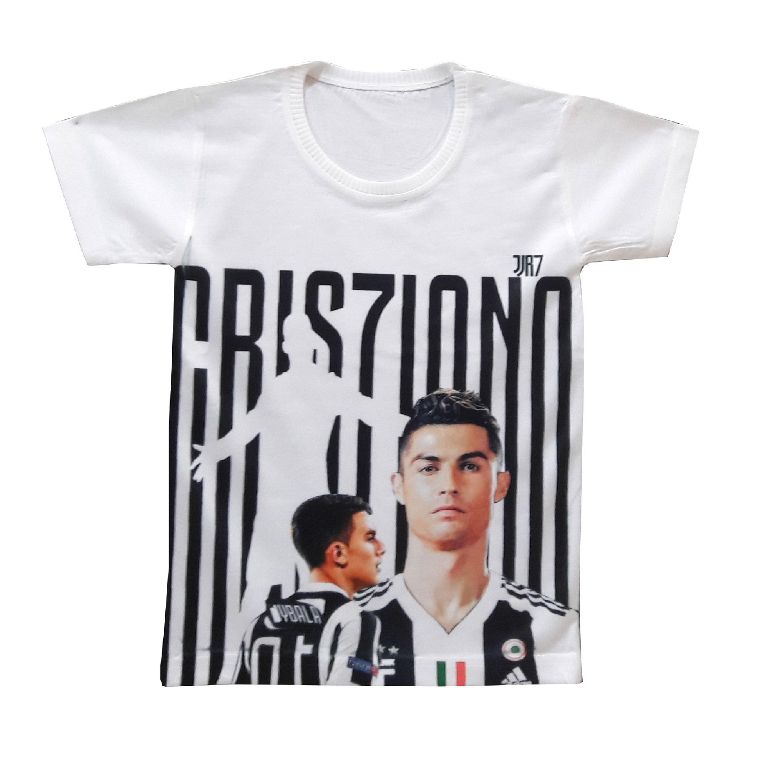 تی شرت پسرانه طرح رونالدو کد PT04