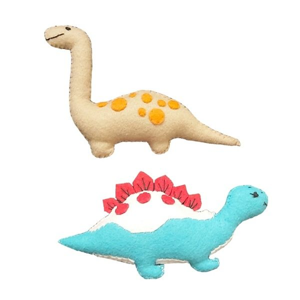 اسباب بازی سگ و گربه مدل دایناسور مجموعه 2 عددی