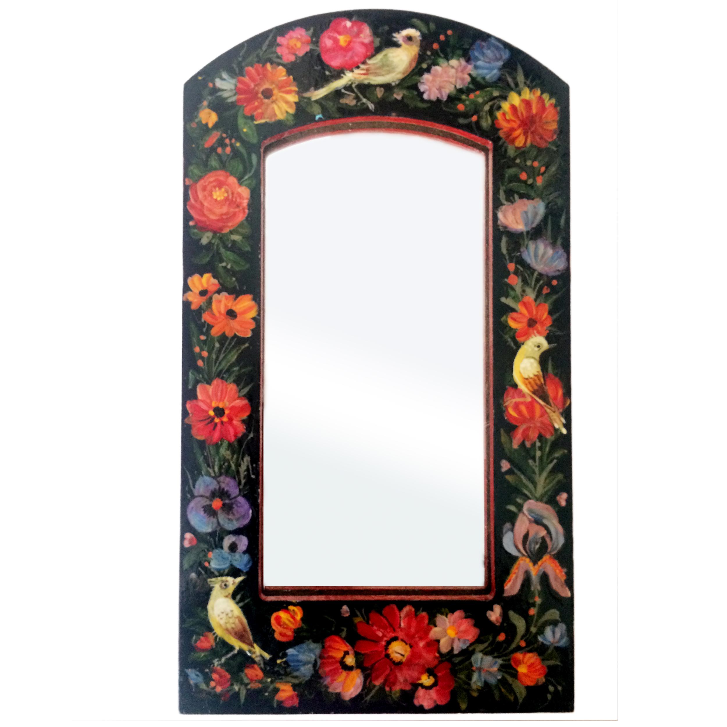 خرید                      آینه مدل گل و مرغ کد 006