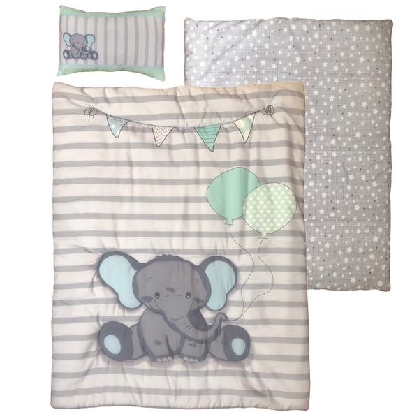 سرویس خواب 3 تکه کودک کوکالو مدل فیل و بادکنک