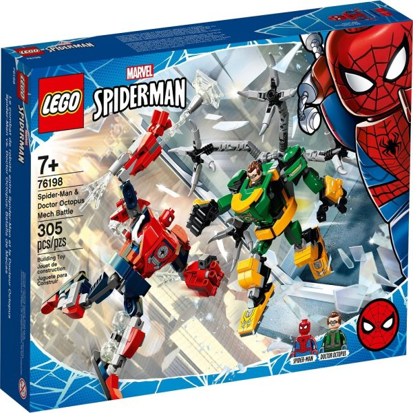 لگو سری Spiderman مدل Spider-Man & Doctor Octopus Mech Battle 76198