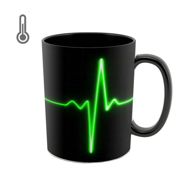 ماگ حرارتی طرح ضربان قلب کد 9002