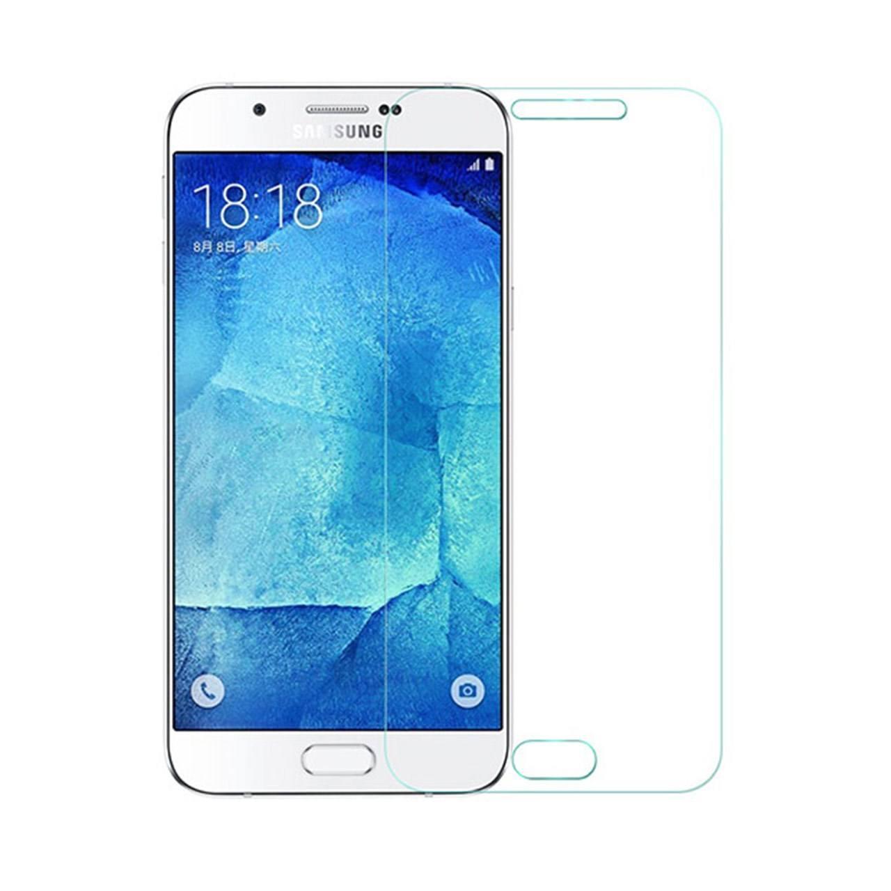 محافظ صفحه نمایش شیشه ای مدل Tempered مناسب برای گوشی موبایل سامسونگ Galaxy A8 2016