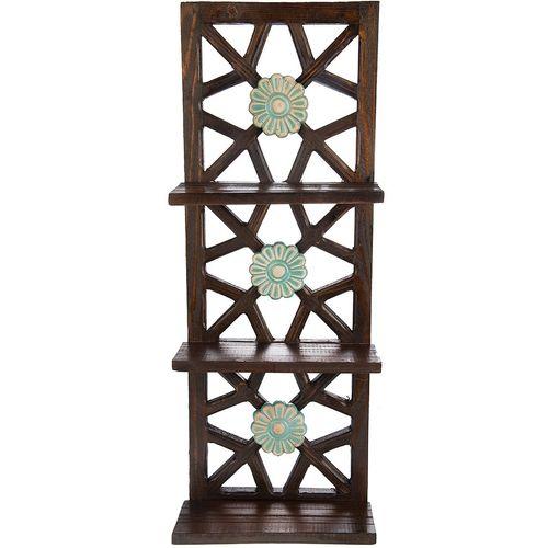 طبقه چوبی گالری اسعدی طرح سه گل کد 66030