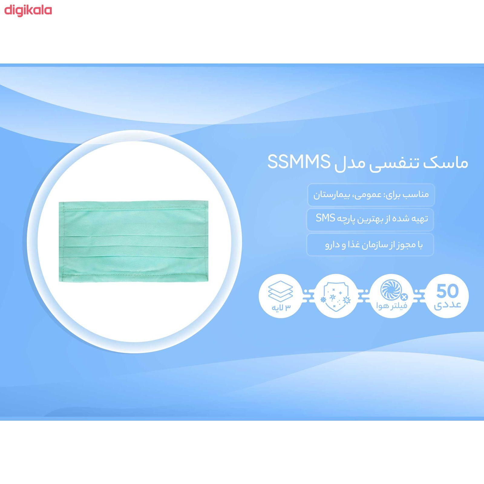 ماسک تنفسی مدل SSMMS بسته 50 عددی main 1 6