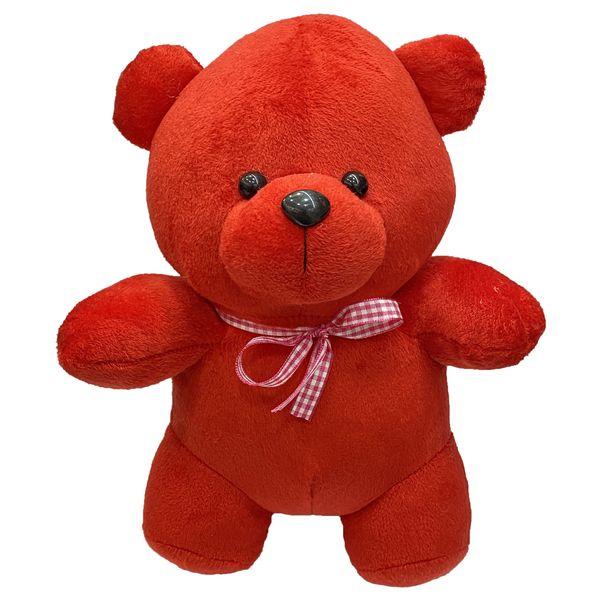 عروسک طرح خرس پاپیونی ارتفاع 30 سانتی متر