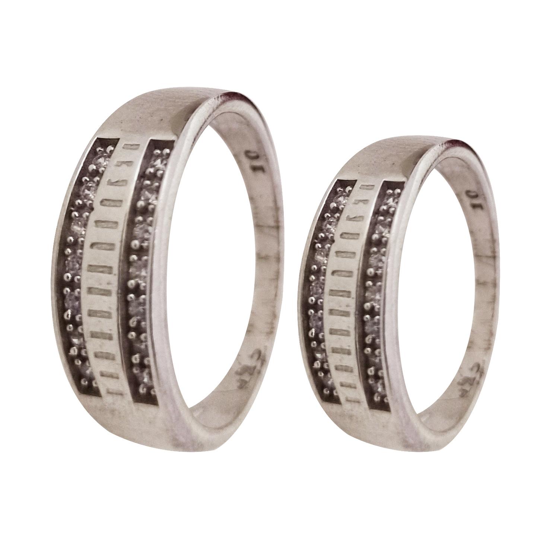 ست انگشتر نقره زنانه و مردانه سلین کالا مدل ce-setan6