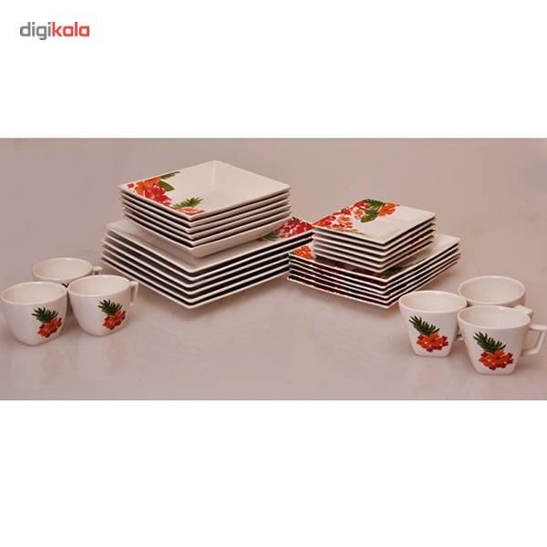 سرویس غذاخوری چینی 30 پارچه آکسفورد مدل Tropical