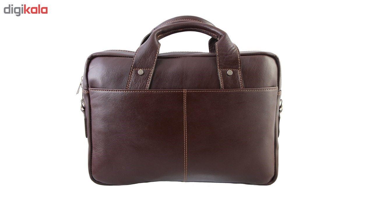 کیف اداری چرم طبیعی ماندگار مدل دو دسته کد 136033 main 1 1