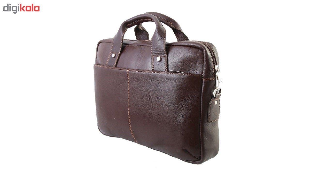 کیف اداری چرم طبیعی ماندگار مدل دو دسته کد 136033 main 1 2
