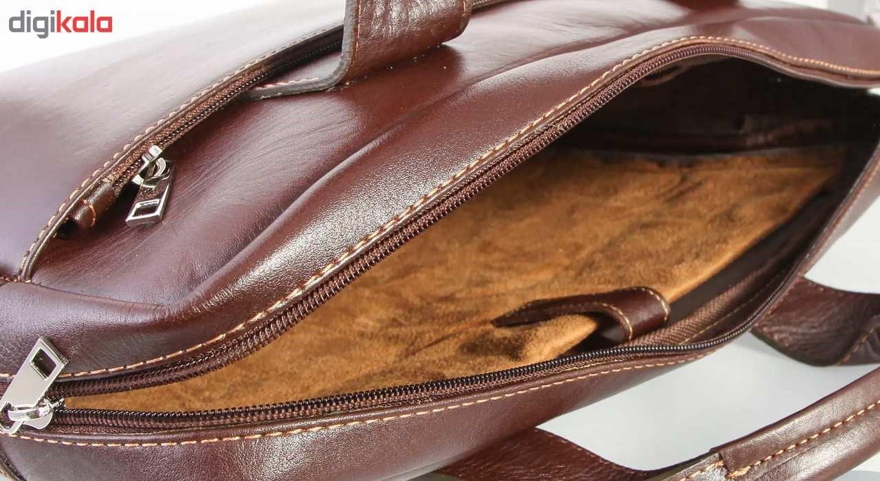 کیف اداری چرم طبیعی ماندگار مدل دو دسته کد 136033 main 1 3