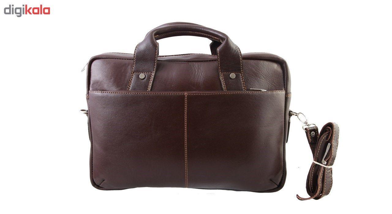 کیف اداری چرم طبیعی ماندگار مدل دو دسته کد 136033 main 1 4