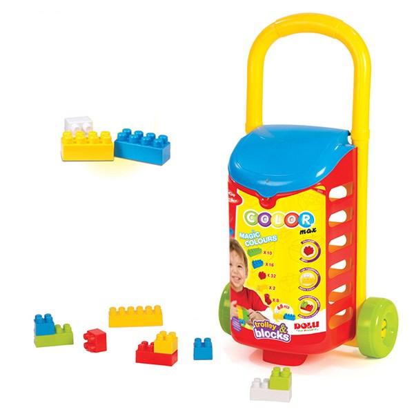 بلوکهای ساختنی 68 تکه دولو  مدل Trolley With Blocks کد 5051