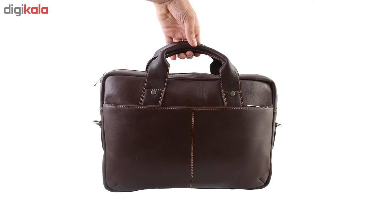 کیف اداری چرم طبیعی ماندگار مدل دو دسته کد 136033 main 1 5