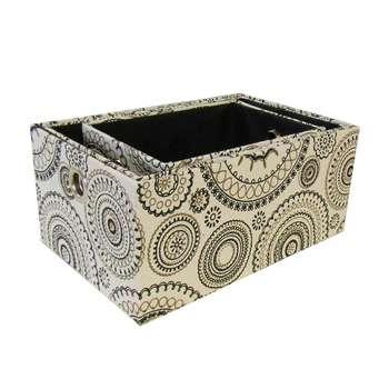جعبه ارگانایزر هوم اند لایف مدل سابین طرح دایره و گل فانتزی مجموعه 3 عددی