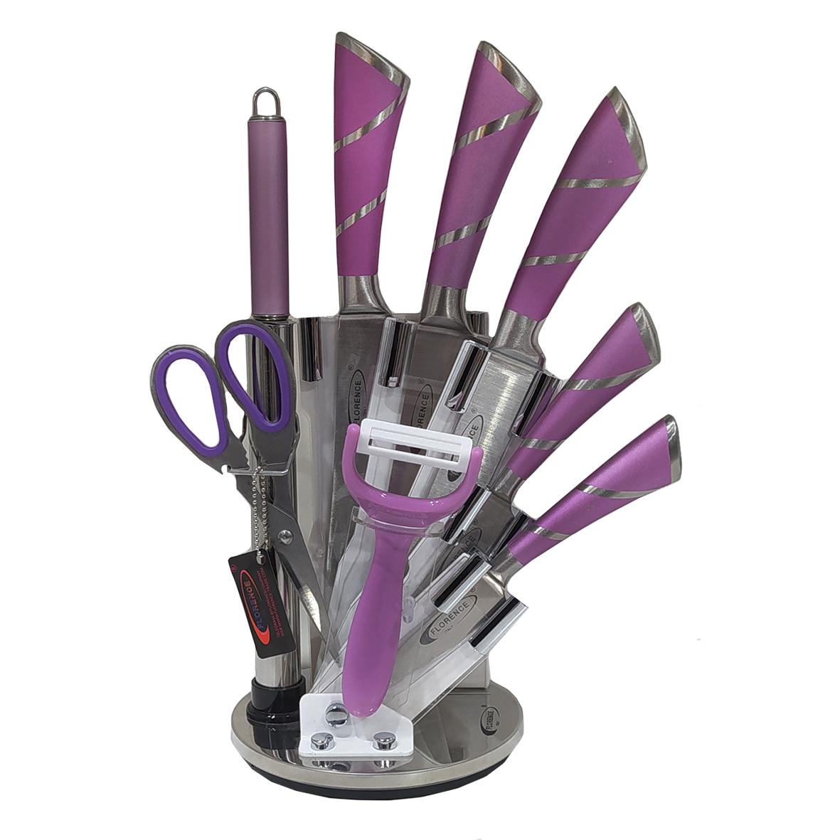 سرویس چاقو آشپزخانه 9 پارچه فلورانس کد 03