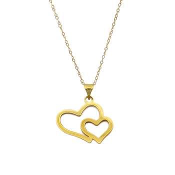 گردنبند طلا 18 عیار زنانه کاپانی مدل قلب کد KN018