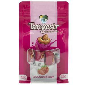 شکلات خرمایی مغزدار توت فرنگی تنگسیر- 250 گرم