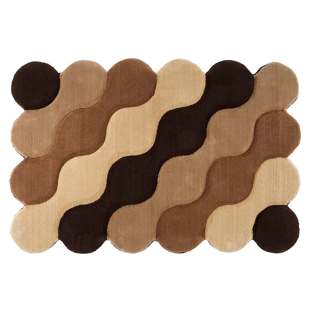 فرش تزیینی زرباف مدل موج سایز 80 × 120 سانتی متر