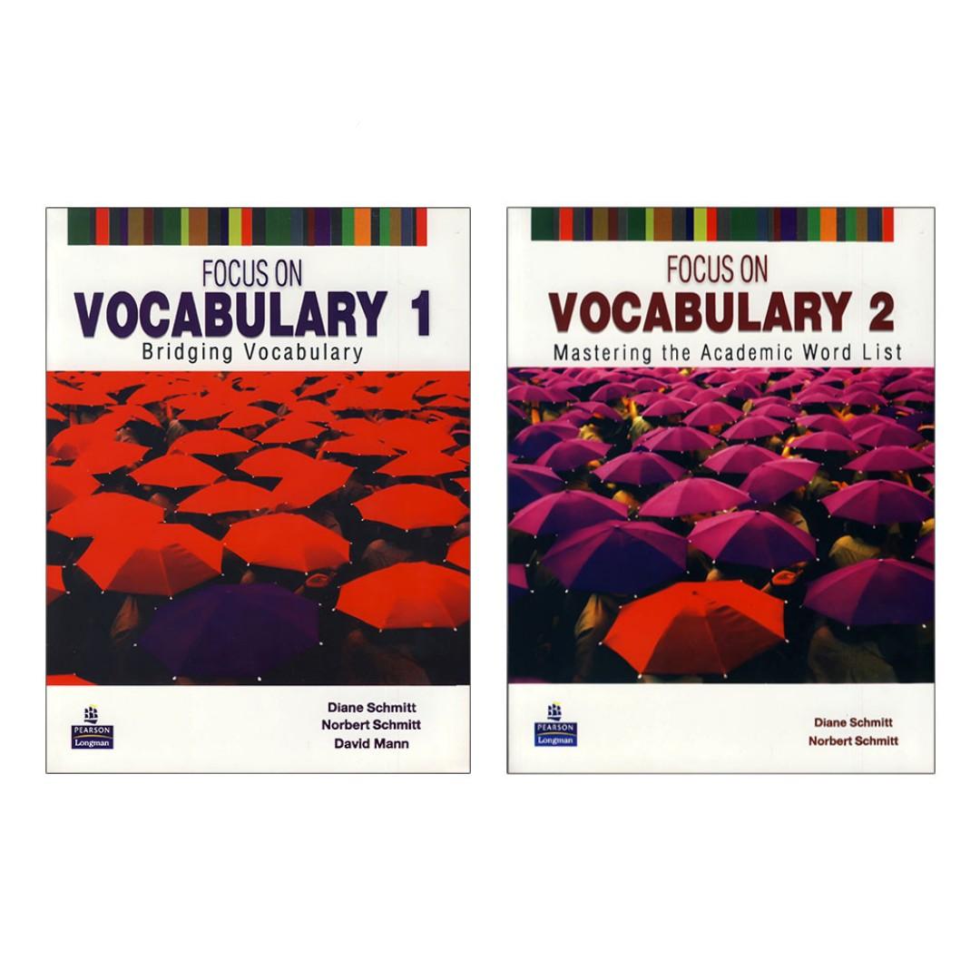 کتاب Focus on Vocabulary اثر Diane Schmitt انتشارات پرسون 2 جلدی
