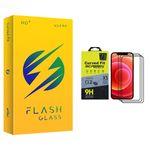محافظ صفحه نمایش فلش مدل +HD مناسب برای گوشی موبایل اپل iPhone 12 Pro Max بسته سه عددی