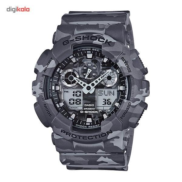 خرید ساعت مچی عقربه ای مردانه کاسیو جی شاک GA-100CM-8ADR