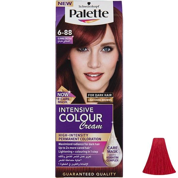 کیت رنگ موی پلت سری Intensive مدل Glowing Chestnut شماره 88-6