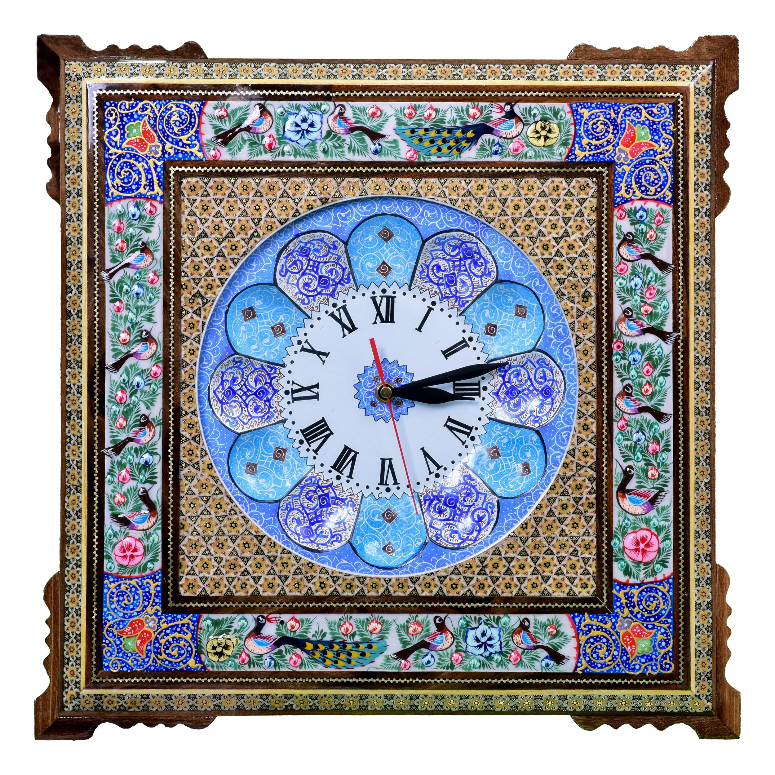 ساعت خاتم کاری مدل گل و مرغ کد 4444