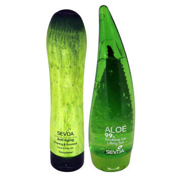 ژل ضد چروک سودا مدل Aloevera و Cucumber حجم 250 میلی لیتر