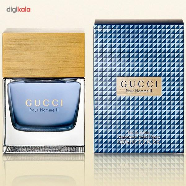 ادو تویلت مردانه گوچی مدل Gucci Pour Homme II حجم 100 میلی لیتر