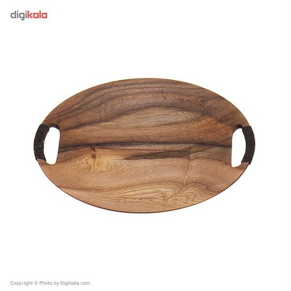 سینی چوبی گالری پادما مدل دسته دار سایز کوچک