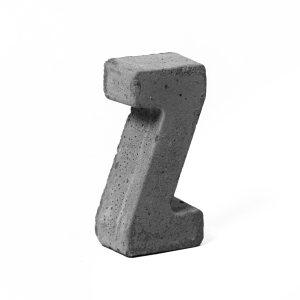 مجسمه بتنی طرح حروف مدل letter Z