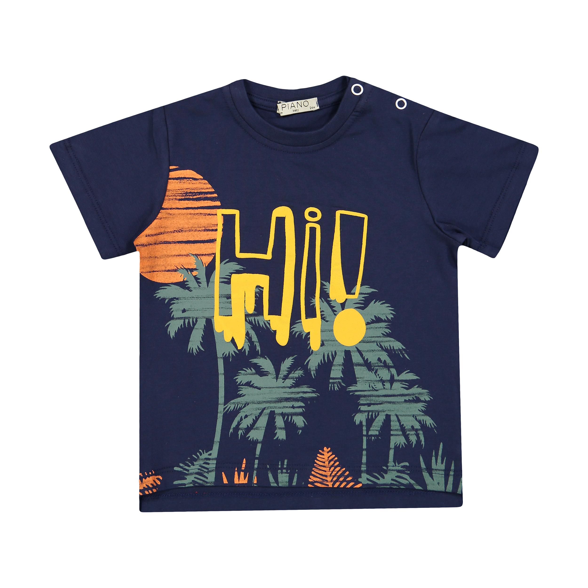 تی شرت نوزادی پسرانه پیانو مدل 01512-59