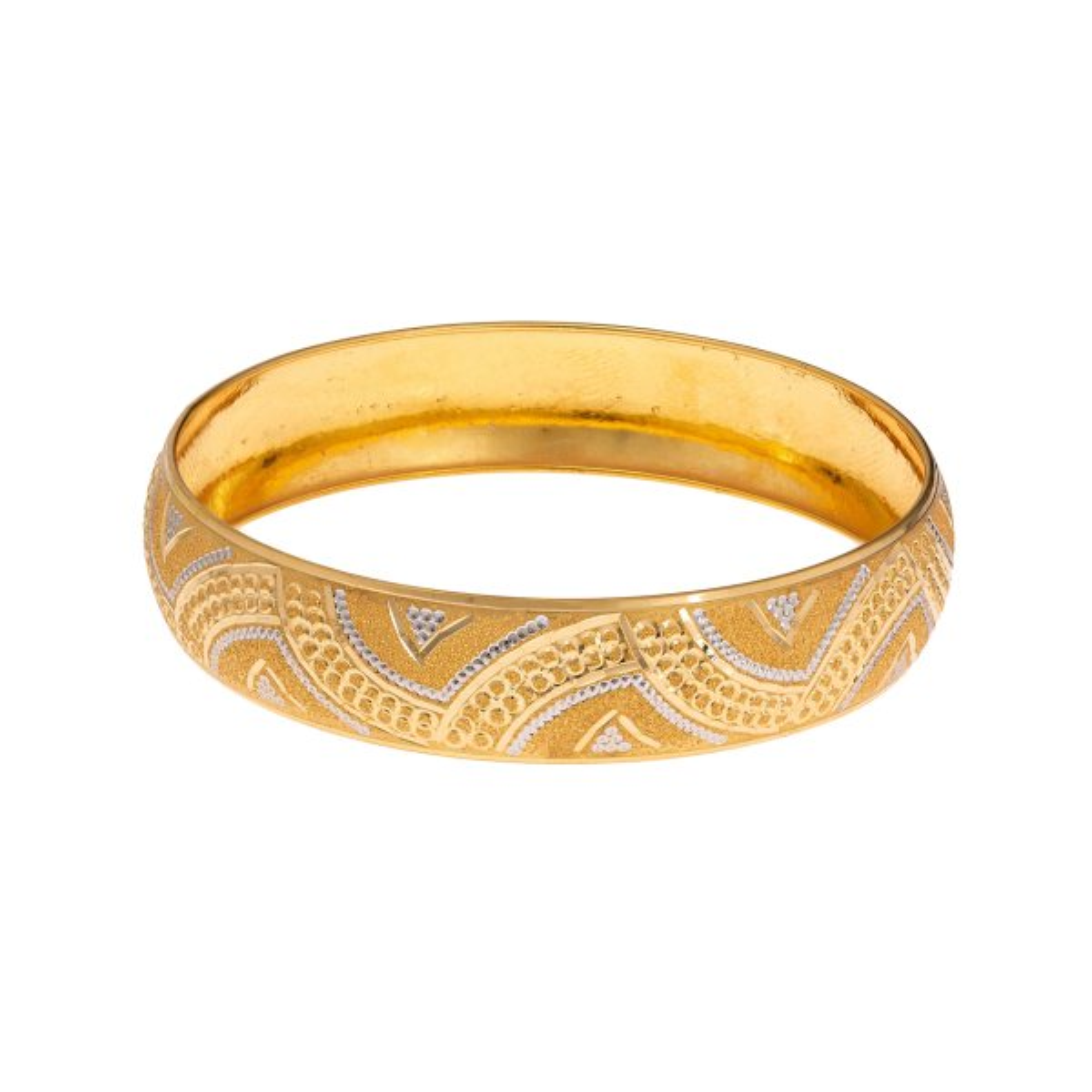 النگو طلا 18 عیار زنانه گالری یارطلا  کد AL33-G-3