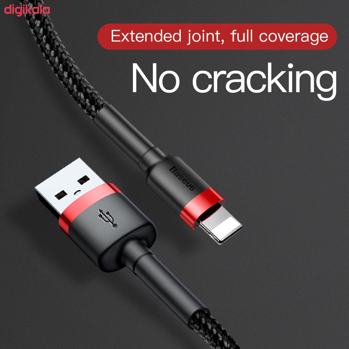 کابل تبدیل USB به لایتنینگ باسئوس مدل CALKLF-C19 Cafule طول 2 متر main 1 11