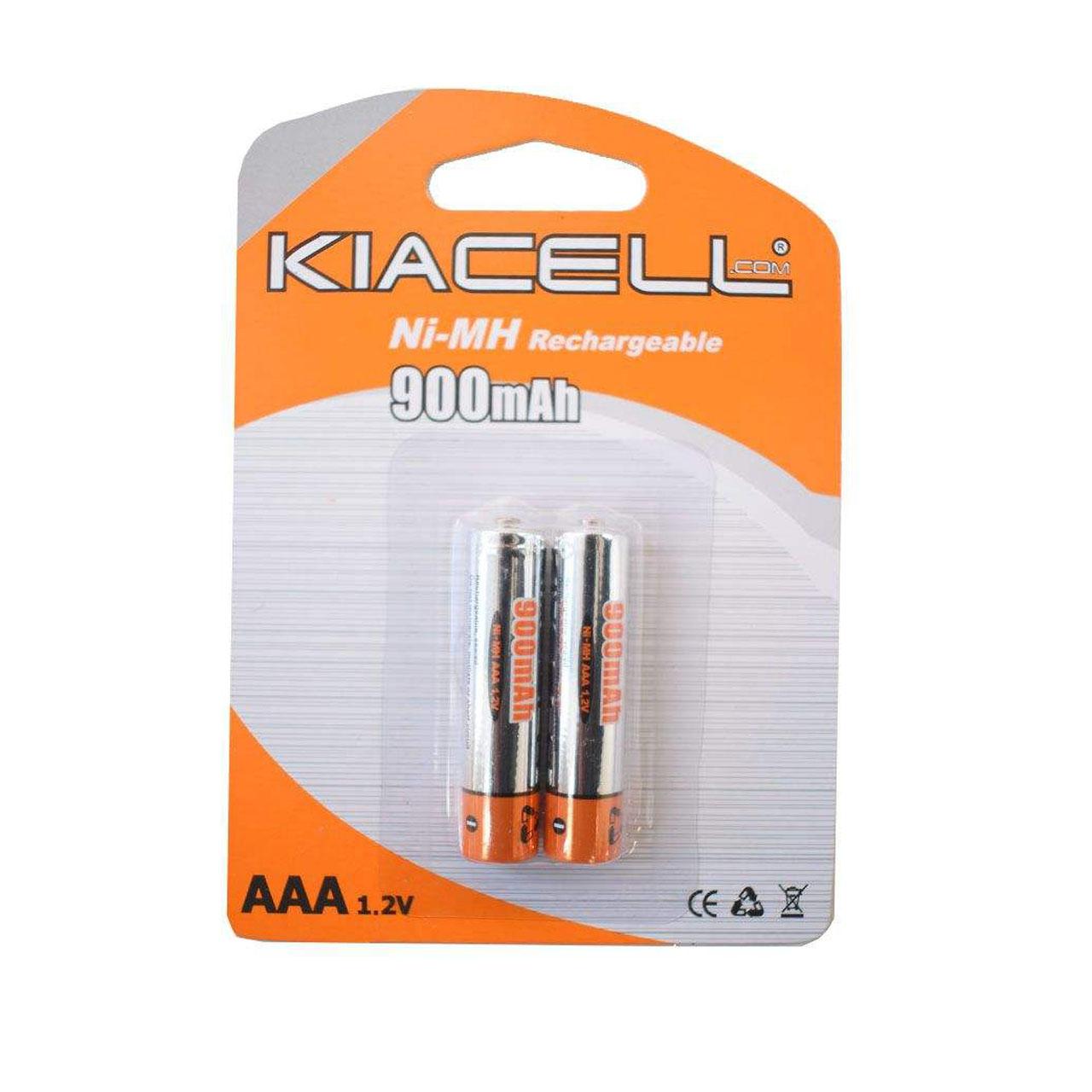 بررسی و {خرید با تخفیف}                                     باتری نیم قلمی قابل شارژ کیاسل مدل Ni-MH بسته 2 عددی                             اصل
